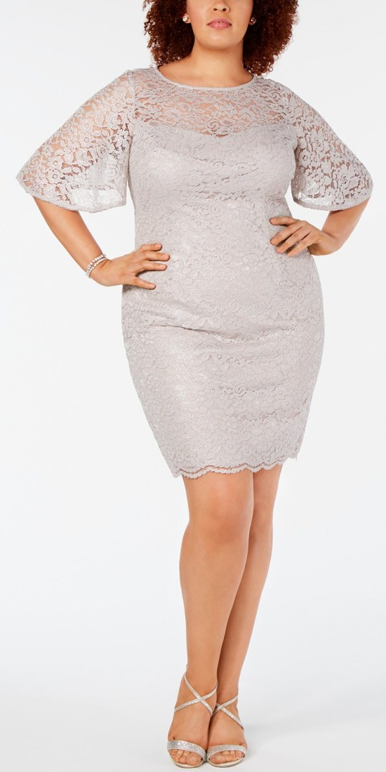57 Plus Size Wedding Guest Dresses {with Sleeves} - Plus Size Special Occasion Dress - Alexawebb.com #plussize #alexawebb