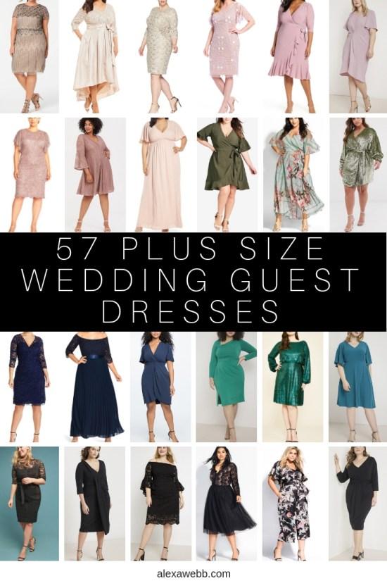 57 Plus Size Wedding Guest Dresses {with Sleeves} - Plus Size Special Occasion Dress - Alexawebb.com #plussize #alexawebb