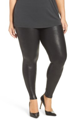 Plus Size Faux Leather Leggings - Plus Size Fashion for Women - alexawebb.com #plussize #alexawebb #NSale