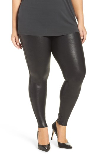 Plus Size Faux Leather Leggings - Plus Size Fashion for Women - alexawebb.com #plussize #alexawebb #NSale