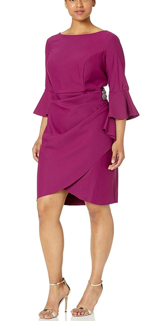 39 Plus Size Wedding Guest Dresses {with Sleeves} - Plus Size Summer Fall Wedding Guest Dresses - alexawebb.com #plussize #alexawebb