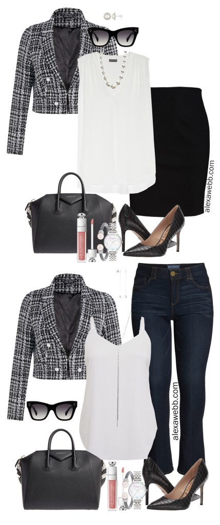 Plus Size Bouclé Jacket Outfits for Work and Fun - Plus Size Fashion for Women - alexawebb.com #alexawebb #plussize