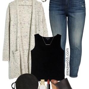 Plus Size Cozy Fall Outfit - Plus Size Cardigan, Jeans, Mules - Madewell - alexawebb.com #plussize #alexawebb