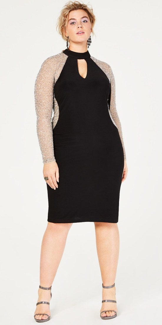 66 Plus Size Holiday Party Dresses with Sleeves - Alexa Webb #plussize #alexawebb