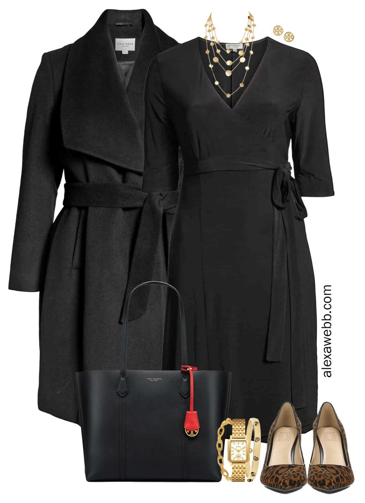 Plus Size Wrap Dress for Workwear Outfit Idea - Alexa Webb