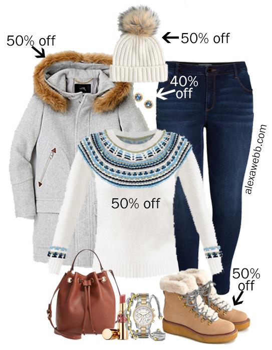 2019 Plus Size Black Friday Deals – Fair Isle Sweater, Hiker Boots, Skinny Jeans, Wool Coat - Alexa Webb