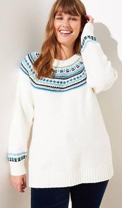 Plus Size Fair Isle Sweater - Alexa Webb