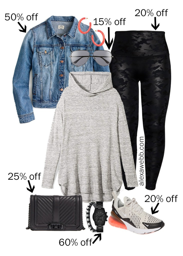 Plus Size Black Friday Deals – Fall Athleisure with Hoodie, Faux Leather Leggings, Denim Jacket, and Sneakers - Alexa Webb