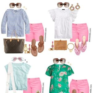 Plus Size Pink Shorts Outfits with sandals - Plus Size Summer Outfit Ideas - Alexa Webb