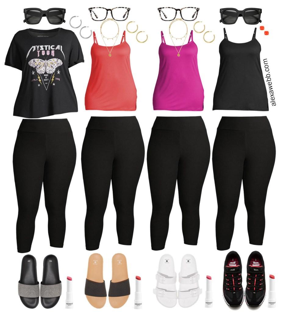 Plus Size Loungewear Capsule with Black Leggings Outfit Ideas - Alexa Webb #plussize #alexawebb