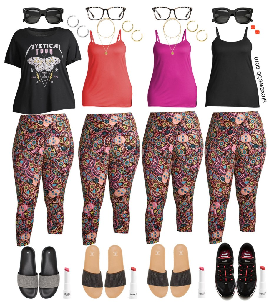 Plus Size Loungewear Capsule with Printed Leggings Outfit Ideas - Alexa Webb #plussize #alexawebb