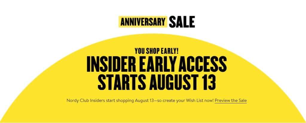 Nordstrom Anniversary Sale 2020 - Access for Cardholders and Everyone Dates