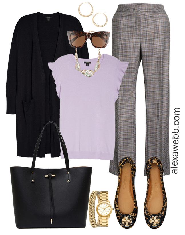 Plus Size Fall Work Capsule Wardrobe - Plus Size Workwear for Fall with Plaid Pants - Alexa Webb #plussize #alexawebb