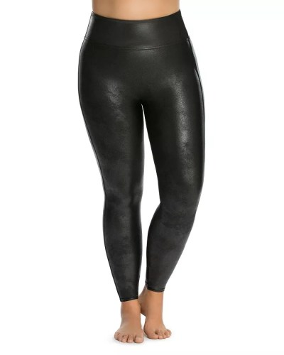 Plus Size Faux Leather Leggings from Spanx - Alexa Webb