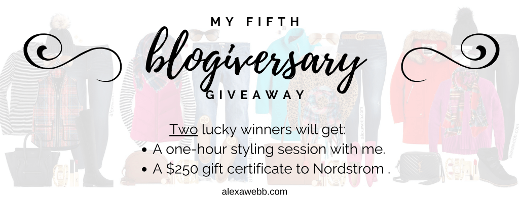 Alexa Webb 5th Blogiversary Giveaway - Alexa Webb