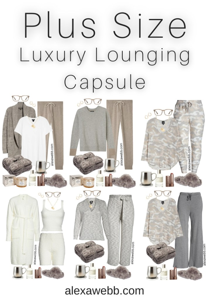 Plus Size Luxury Loungewear Capsule with Lounging and Work-from-Home Outfits for Fall and Winter - Alexa Webb #plussize #alexawebb