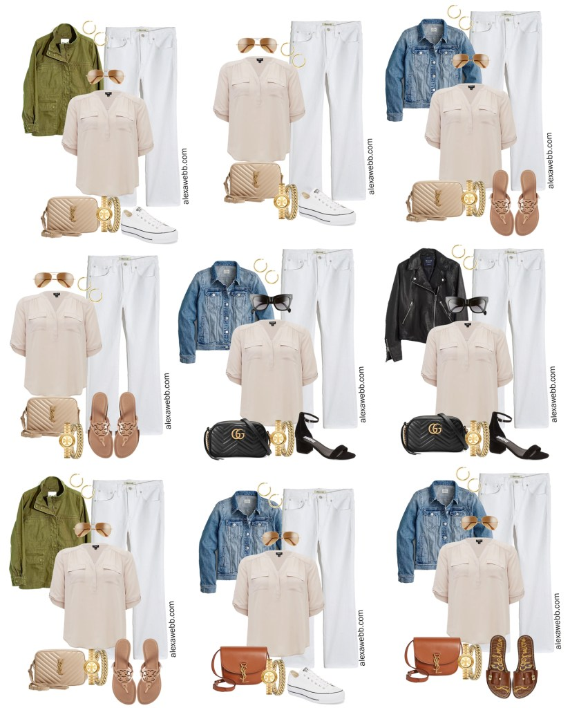 Plus Size Spring Casual Capsule Wardrobe - Part 2 with an essential list of plus size spring clothing - 16 pieces with countless outfits - Alexa Webb