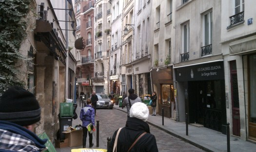 Narrow streets on the Left Bank in Paris. Photo by the author.