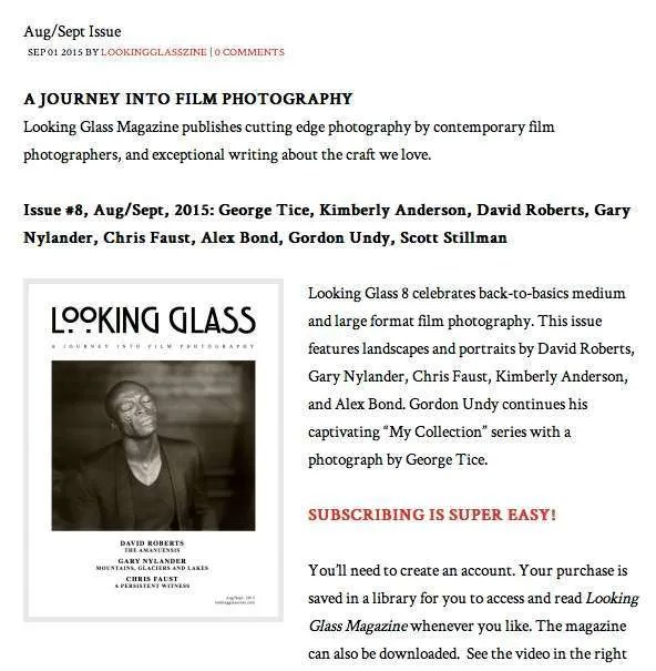 Looking Glass Magazine issue 8 Aug Sept 2015
