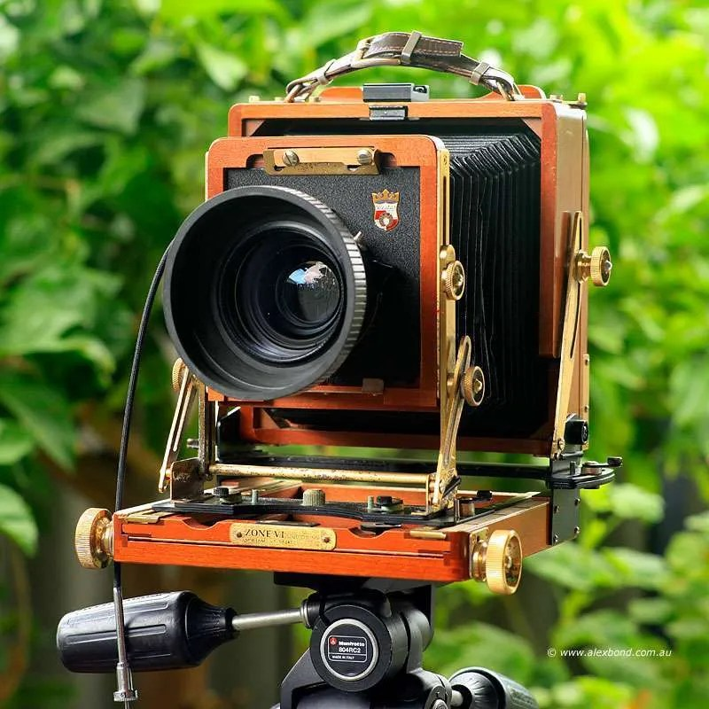 Wista 4x5 camera with large-format camera movements