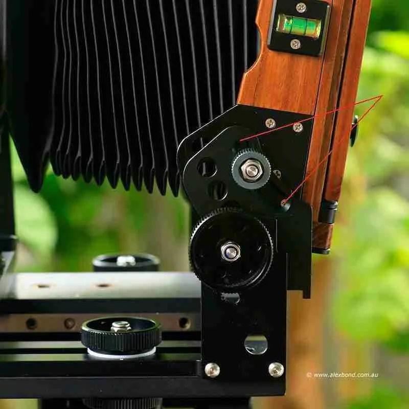 asymmetrical tilt Chamonix large-format camera movements