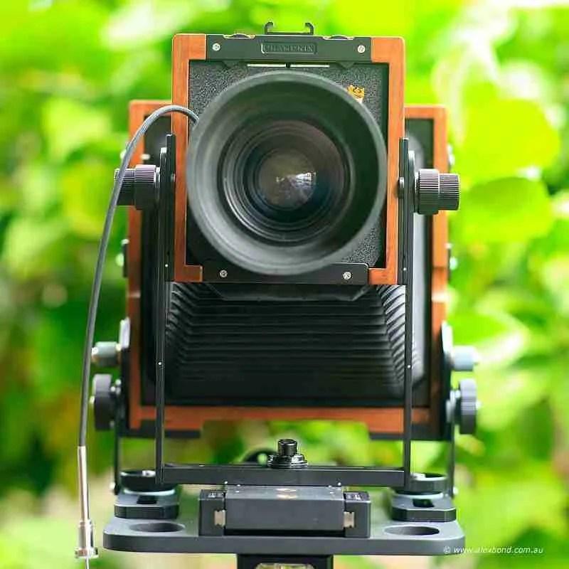 lens rise Chamonix F2 4x5 camera