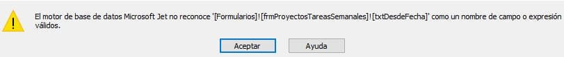 Error en consulta de referencias cruzadas con microsoft access