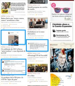Ejemplo de Twitter en política en e-Noticies