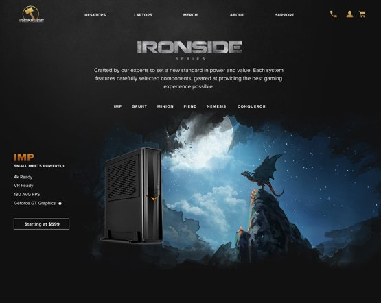 Ironside Computers Ecommerce User Experience Design