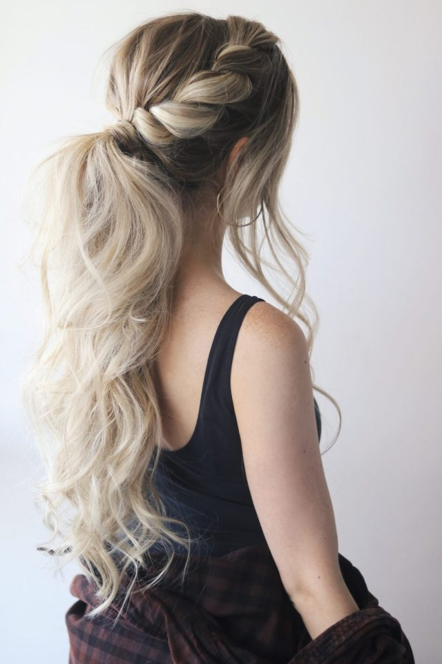 easy ponytail hair tutorial - alex gaboury