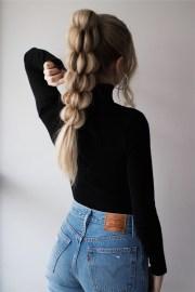 unique braided ponytail hair tutorial