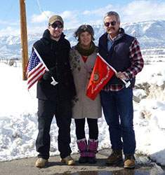 Rifle Airport: Geoff, Mary & Todd Gilmer, 4th Anniversary of Alex's death
