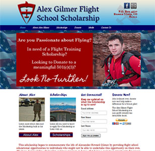 Alex Gilmer Flight School Scholarship is Live!