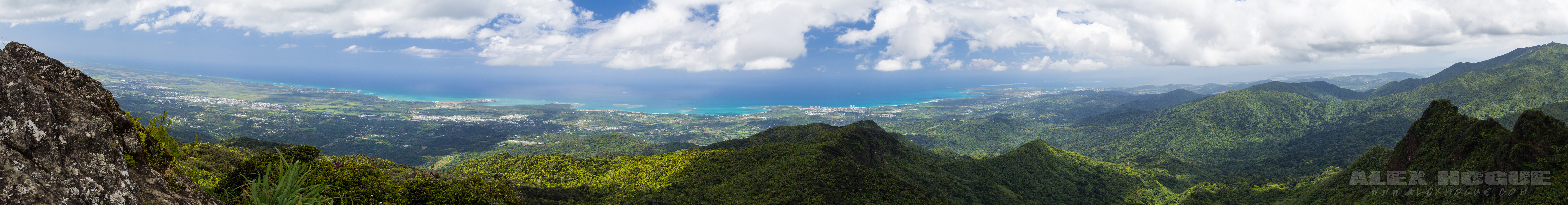 Panoramic view of El Yunque rainforest puerto rico by Alex Hogue