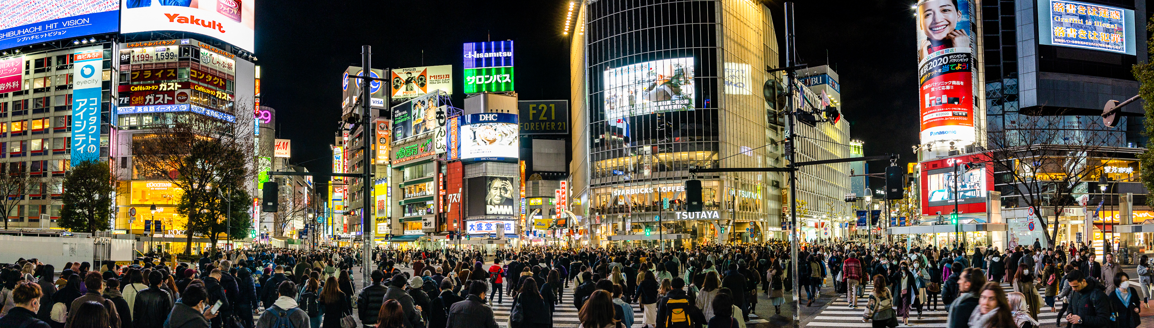 Shibuya Crossing in Japan filled with people in late January 2020, just weeks prior to crux of COVID-19.