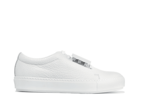 Acne studios white leather sneakers