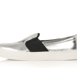 Topshop silver slip on trainers