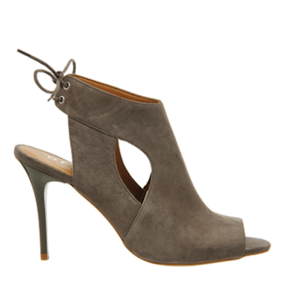 Office grey suede cut out shoe boots