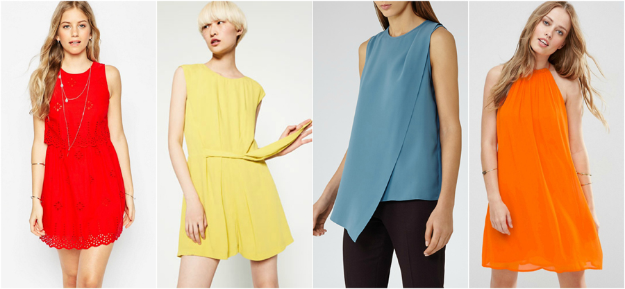 House Party Wear Spring Summer Bold Colour Fashion Top Dress