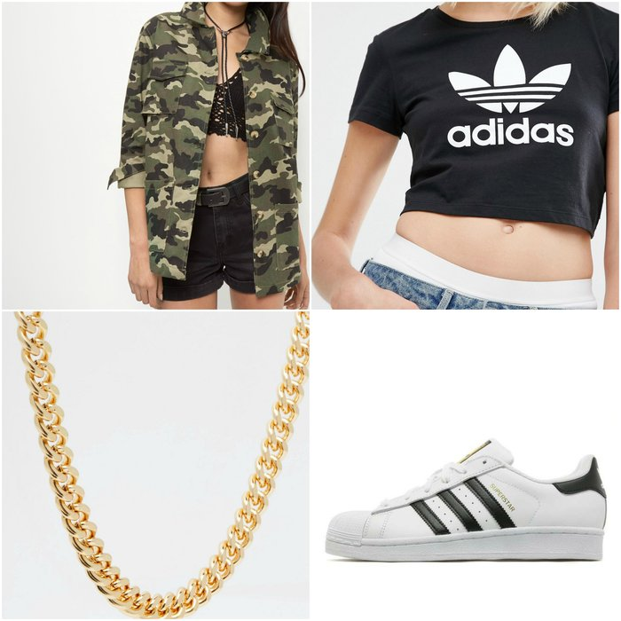 Womens Outfit Grid Hip Hip Concert Outfit