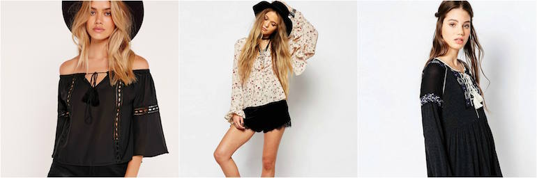 Boho top and shorts look for beach party