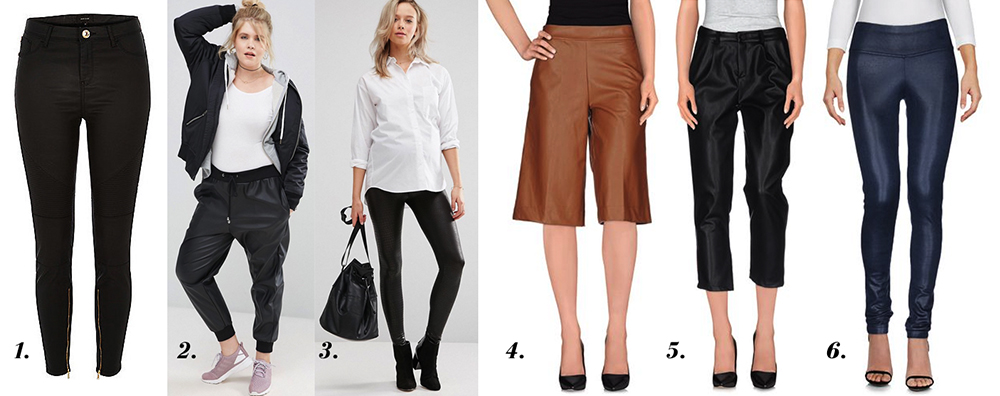 outfit grid womens leather look faux leather pants trousers style