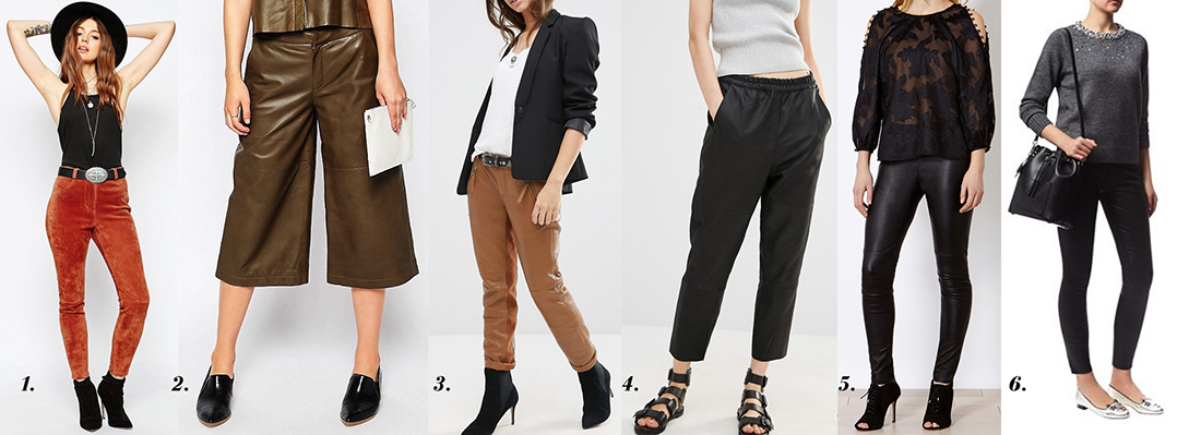 outfit grid womens leather pants trousers culottes style