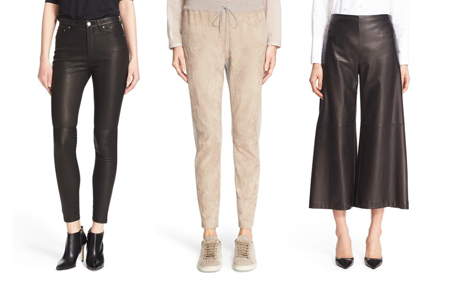 outfit grid womens leather pants trousers culottes