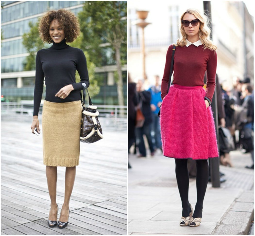 skirt sweater autumn winter business casual outfits work