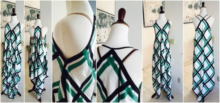 DIY Maxi SCARF DRESS