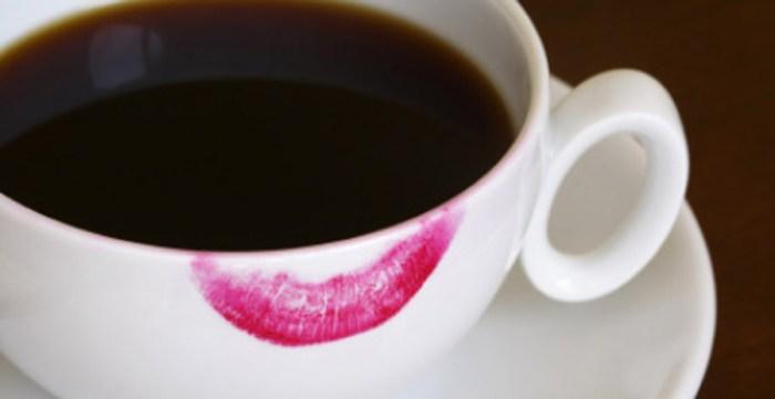 Lipstick Stain Coffee Cup Mug Beauty Makeup