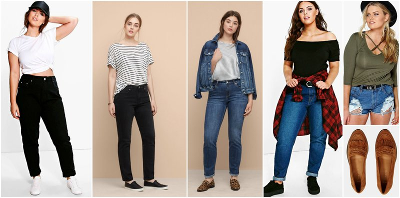Outfit Gird Straight Leg Jeans for Curvy Women