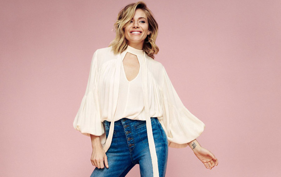 Sienna Miller Athletic Shaped Fit High Waisted Jeans Fashion Style Fit