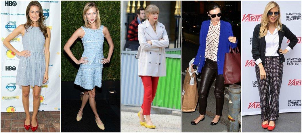 celebrities wearing ballet flats